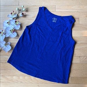 CHICO'S the ultimate tee size 1 (M) blue cotton